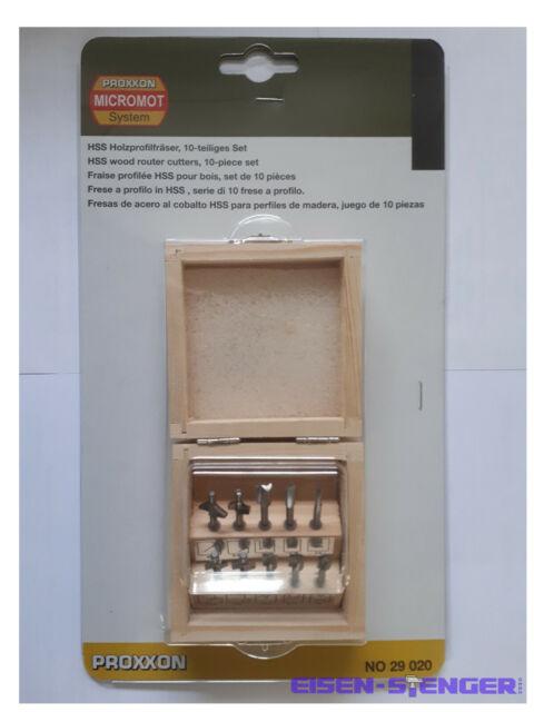 10-tlg PROXXON Holz-Profilfräserset No 29020