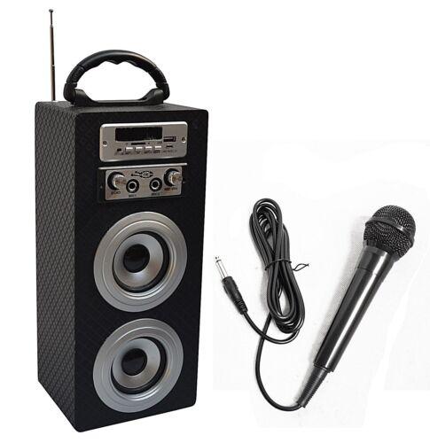 Mobile Bluetooth altavoz + micrófono _ Carbon look _ fm_aux_usb_sd_mp3_box33