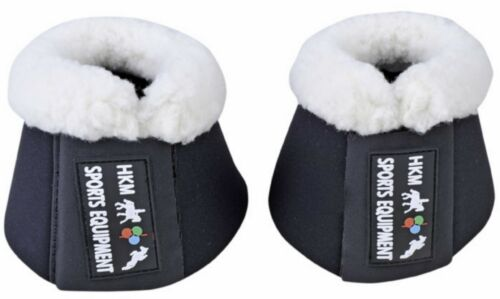 HKM Comfort Padded Over-Reach Bell Boots Anti-Rub Fleece Collar Pony to X-Full