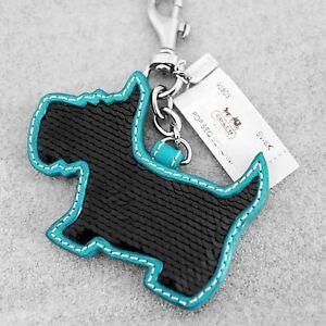A Beautiful diamante Scottie Dog Black Collar Rhinestones Keyring Charm Pendant Purse Bag Key Ring Chain Keychain Gifts