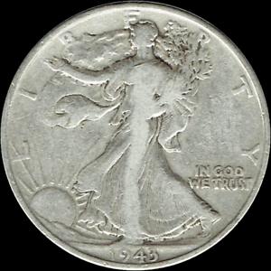1916-1947 Walking Liberty Half Dollar Average Circulated 90/% Silver