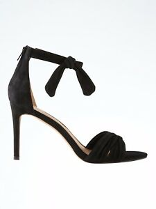 894186b5a209 Banana Republic Ankle-Bow High-Heel Sandal Biscotti Suede Size 10 ...