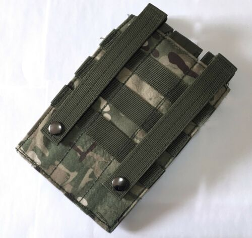 New Airsoft Molle Triple Armor Magazine Pouch 6 Colors With Hook/&Loop Closures