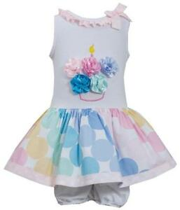 Bonnie-Jean-Birthday-Cupcake-Party-Bow-Polka-dot-Pink-Dress-12-18-24-Months