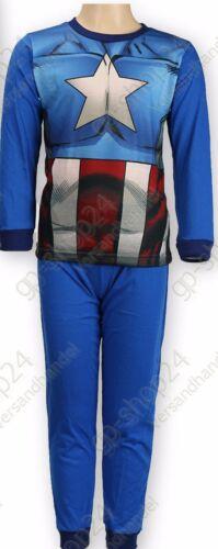 MARVEL Avengers Bambini Manica Lunga PIGIAMA SONNO TUTA Camicia da notte tg 98-128 NUOVO!