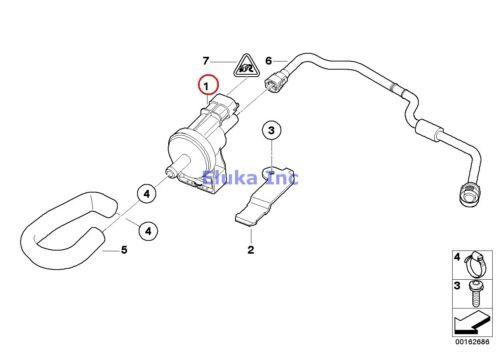 BMW Genuine Fuel Tank Evaporator Vent Breather Purge Valve E90 E90N E92 E92N E93