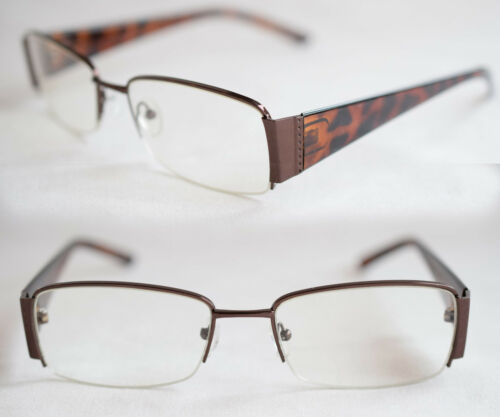 Stärke 403 Nerd Brille Halbschale medium Size braun oder schwarz Klarglas o