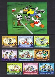 DOMINICA WORLD CUP FOOTBALL SPAIN  SET  MINI SHEET MNH 1982 - <span itemprop=availableAtOrFrom>Market Harborough, United Kingdom</span> - DOMINICA WORLD CUP FOOTBALL SPAIN  SET  MINI SHEET MNH 1982 - Market Harborough, United Kingdom