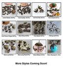 Antiqued Brass Metal Bead Caps Choose Color/Qty New Arrivals