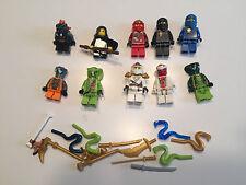 LEGO NINJAGO MINIFIG LOT of 10 MINIFIGS Bytar Lloyd C271