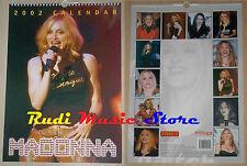 CALENDARIO MADONNA 2002 no cd dvd lp mc tour live