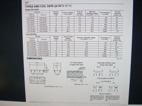 bipolares SDS Relais Gold 12V 1xEIN 1xAUS 250V 380V ST1-L2-DC12V 2xSpulen#20R15/%