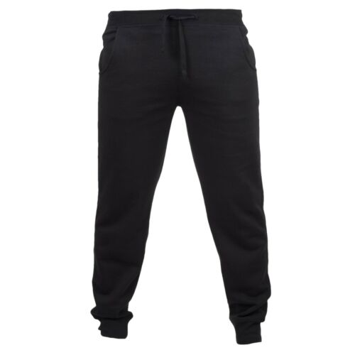 Mens Slim Fit Cuffed Joggers Lightweight Jersey Jogging Trousers Leisure Casual