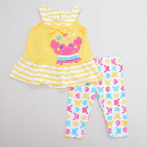 70f4adafd6d5 Image is loading NWT-Nannette-Girls-Crab-Yellow-Sleeveless-Tunic-amp-