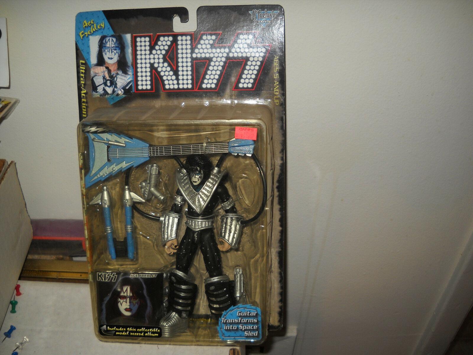 1997 1997 1997 Kiss Action Figure-Ace Frehley vf nm on card f0e93e