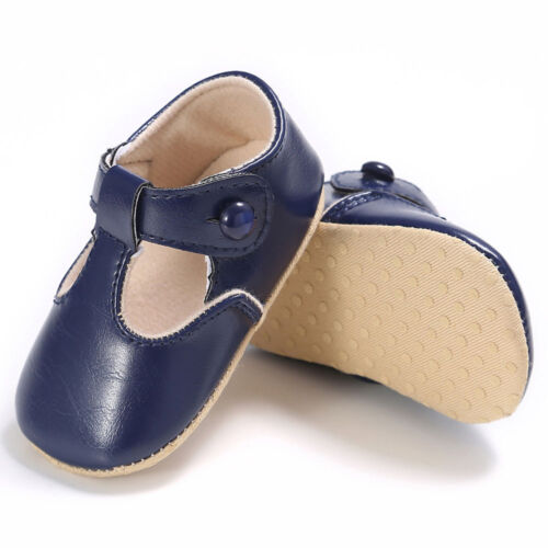 Infant Newborn Baby Boy Girl Leather Soft Crib Shoes Christening Pram Prewalker
