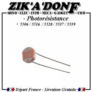 Photoresistance-5mm-GL5506-GL5516-GL5528-GL5537-GL5539