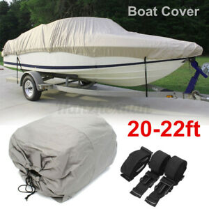 20-22ft-600D-Boat-Cover-Bag-Waterproof-Heavy-Duty-Speedboat-Fishing-Ski-V-Hull