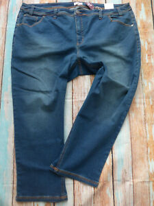 Sheego-Jeans-Capri-Jeans-Ladies-7-8-Trousers-Size-44-to-58-Blue-335-New
