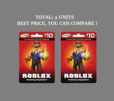 Roblox 10 Game Card Red For Sale Online Ebay - roblox game card for nintendo switch