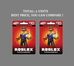 Roblox Gift Card Physical Online 10 Dollar Value For Robux Fast