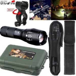 Ultrafire-Flashlight-90000LM-T6-LED-Light-Tactical-18650-amp-Torch-Holder-Bicycle