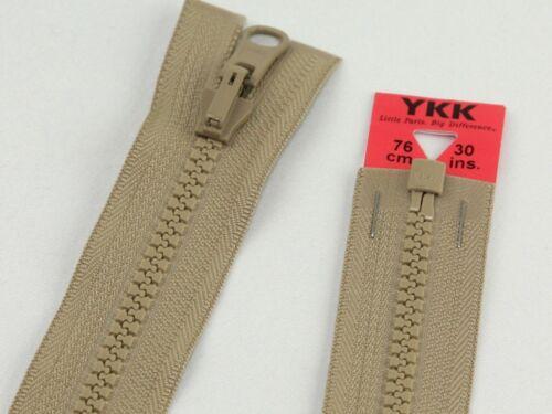 y161-m YKK Naviga Flip Over Chunky Open End zips-Each