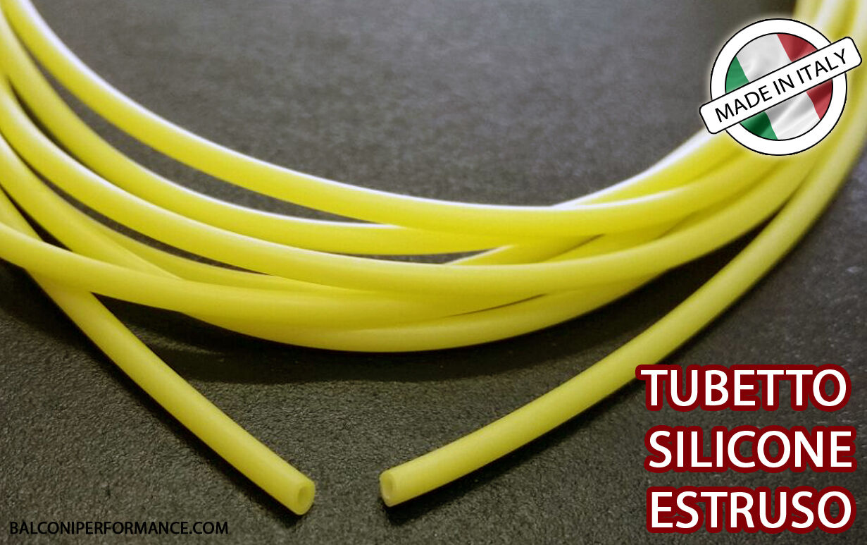 TUBO SILICONE ESTRUSO GUAINA ISOLANTE diametro 2.5 x 3.1 mm yellow