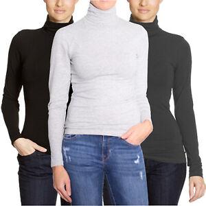 san francisco afa56 69d60 Only Basic Rollneck Damen Langarm Shirt Shirts Rollkragen ...