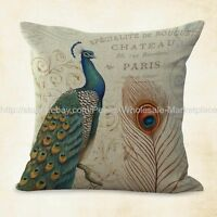 Us Seller, Vintage Peacock Cushion Cover Pillowcase Sizes