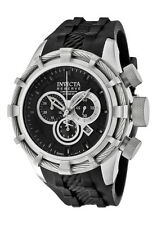 New Invicta Reserve 50mm Bolt Black Dial Chronograph Rubber Strap Watch 1222