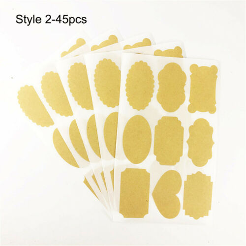 Gift Candy Tags Kraft Paper Packaging Seals Labels Stickers Blank Sticky