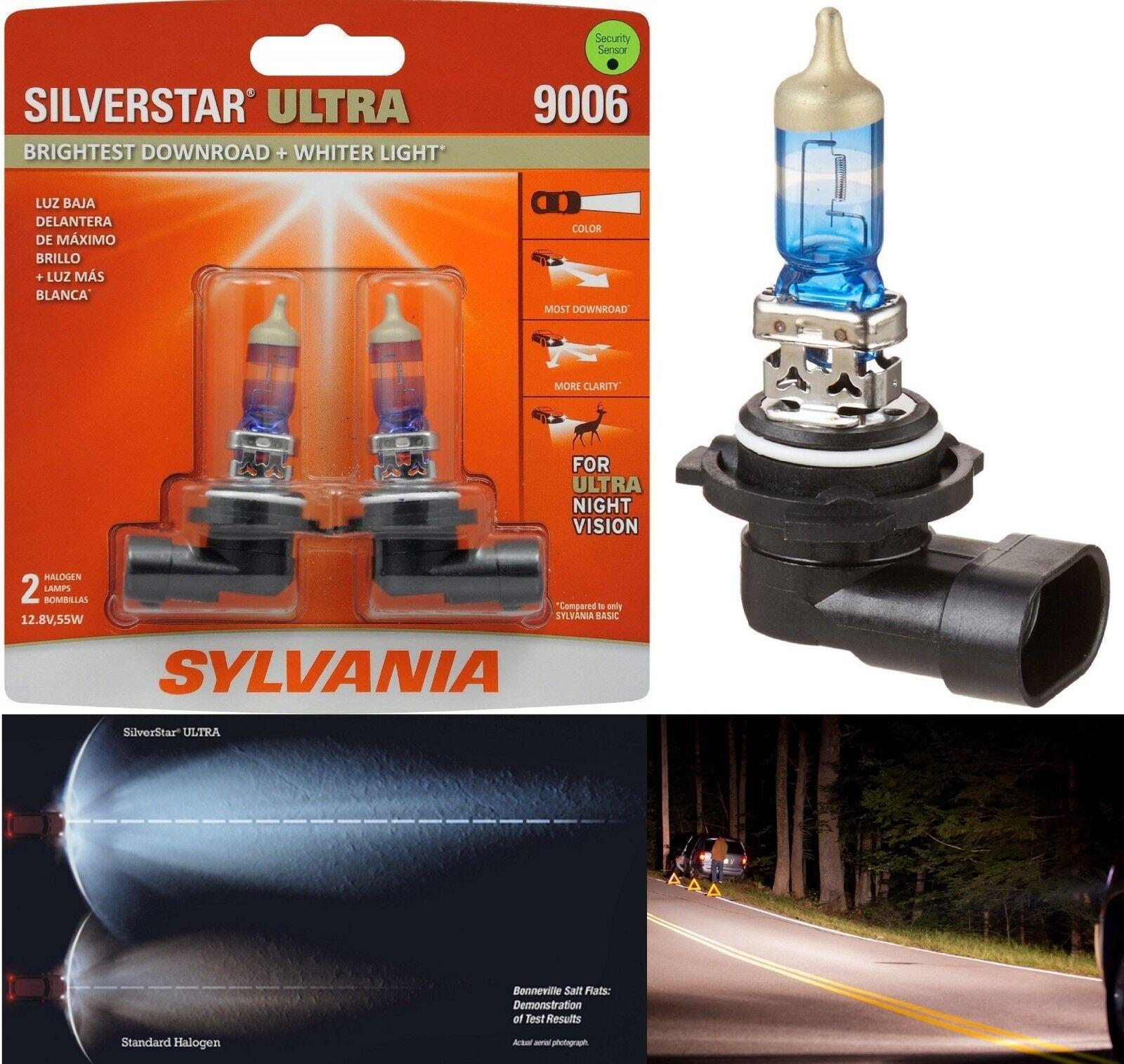 Sylvania Silverstar Ultra 9006 HB4 55W Two Bulbs Head Light Replacement Low Beam