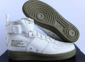 141528603d Nike SF AF1 Special Field Air Force 1 Mid Ivory Neutral Olive SZ 9 ...
