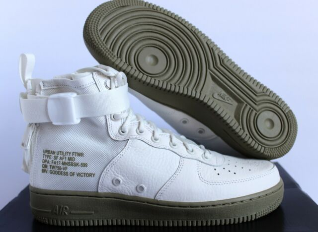 uk availability 71850 d72a9 Nike SF AF1 Special Field Air Force 1 Mid Ivory Neutral Olive SZ 9 917753