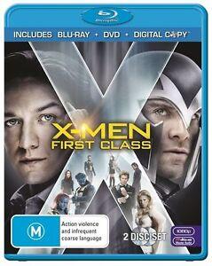 X-Men-First-Class-Blu-ray-amp-DVD-2011-2-Disc-Set-terrific-Condition
