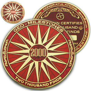 2000 finds géo milestones geocoin et pin set-prix de votre géocache succès-afficher le titre d`origine dW8SIwN4-07134021-827414639