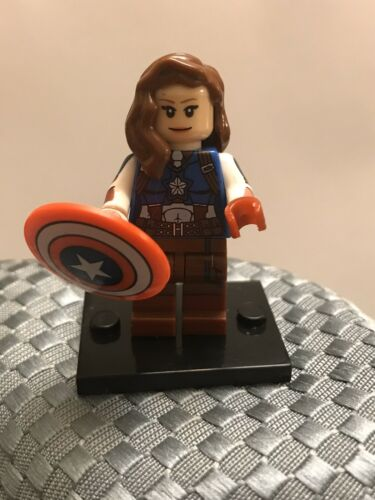 Marvel Superhero Captain America Peggy Carter Minifigure ARRIVES IN 2-4 DAYS