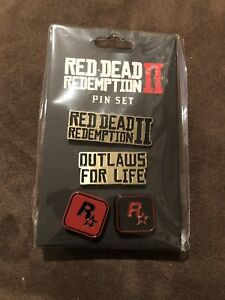 Red-Dead-Redemption-II-2-Pin-Set-Collectable-Brand-New-Sealed-Rockstar-2018-N2