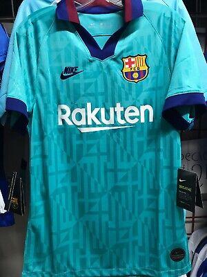Nike Fc Barcelona Third Kit Jersey 2019 20 Retro Green Navy Stadium Size Xl Only 193145234154 Ebay