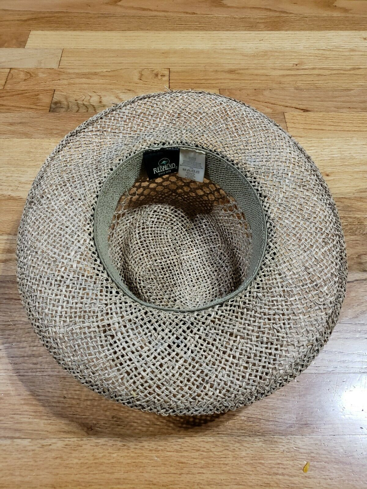 Authentic RedHead Straw Hat Cap 100% Straw One Si… - image 5