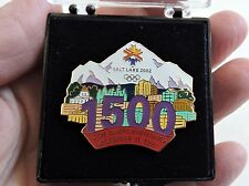 2002 SALT LAKE CITY OLYMPICS PIN LTD ED in PLASTIC BOX 1500 Days to go