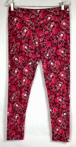 Lularoe Disney Minnie Mouse OS Adult leggings Black Red Dark Pink
