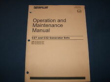 CAT CATERPILLAR C27 C32 GENERATOR SETS OPERATION & MAINTENANCE MANUAL DWB SXC