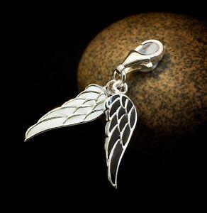 Genuine-925-Sterling-Silver-charm-bead-angel-wings-dangle-clip-on-fits-bracelet