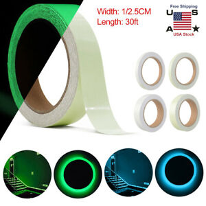 6 Rolls Glow In The Dark Sticky Tape Self Adhesive Luminous Saftey Film Sticker