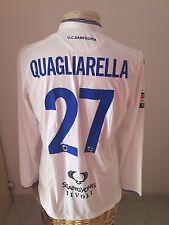 Maglia calcio Empoli Vs Sampdoria 2015 16 n 27 Quagliarella match worn shirt