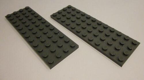 2 x LEGO® 3029 Platte 4x12 Noppen flach neudunkelgrau,new dark grey Neuware