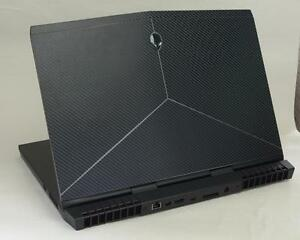 kh laptop carbon fiber sticker skin for dell alienware