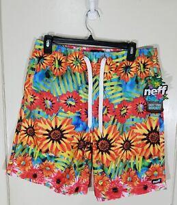 Neff Mens Hot Tub Shorts Swim Trunks NWT L